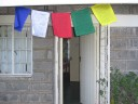 Prayer flags at my house in Tala, Kenya