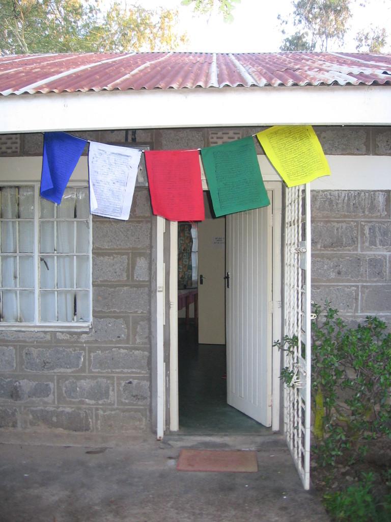 Prayer flags at my house in Tala, Kenya