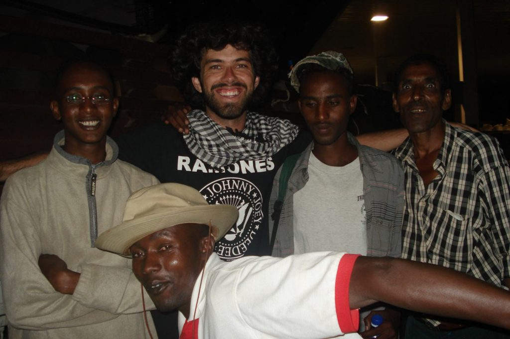 Alan with a few friends from the bus in Awassa, Ethiopia
