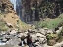 Sally at the falls