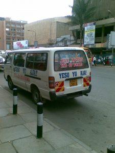 <em>Yesu yu aja</em> minivan in Nairobi