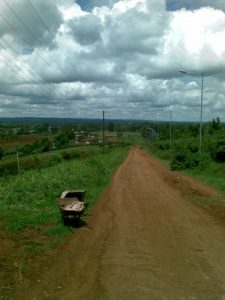 The big hill to Soweto in Uthiru, Kenya