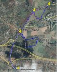 Run route around ILRI campus in Uthiru, Kenya