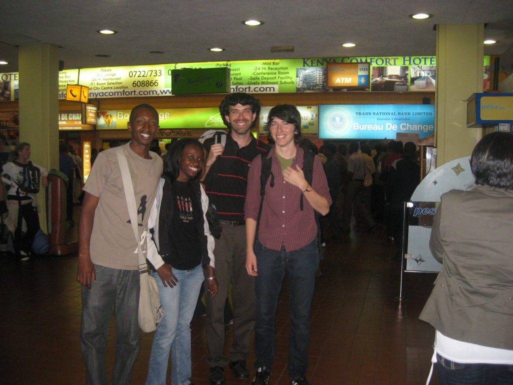 Randi and friends at the Nairobi airport