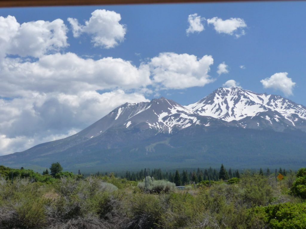 View of Mt. Shasta from the car