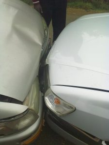 Picture of the head-on collision