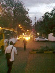 Traffic jam on Church Road
