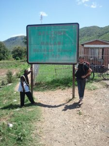 Alan at the Tanzania–Malawi border