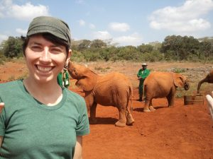 Randi with baby elephants