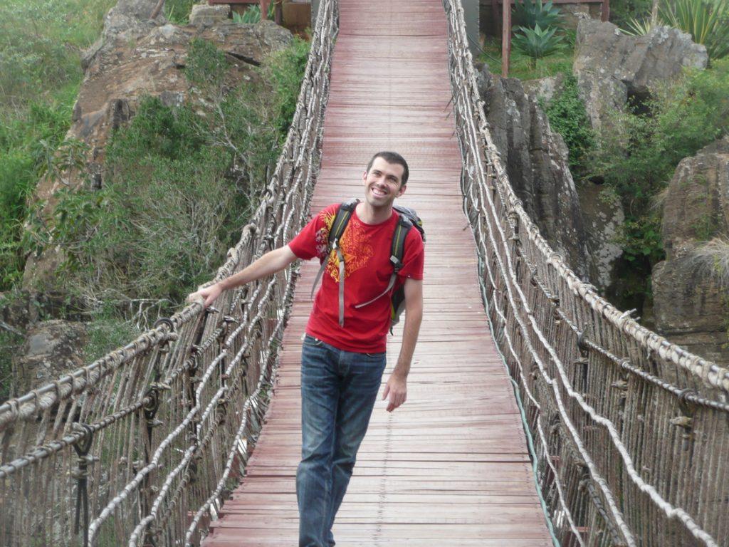 Alan on the bridge at Rolf's