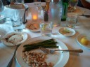 Asparagus and white beans at Piatti's