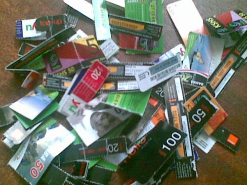 Heap of used scratch cards