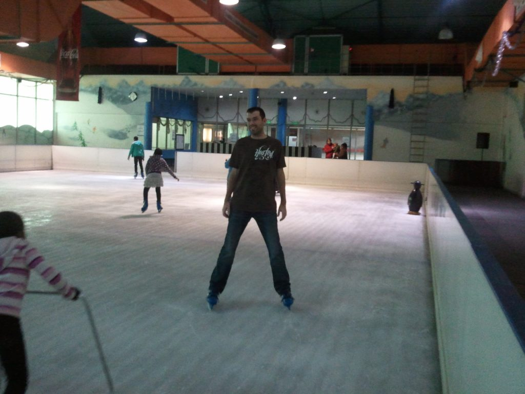Alan ice skating