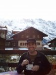 Cappuccino in the Swiss Alps