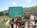 Randi at the Tanzania/Malawi border