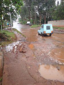 Church road flooded