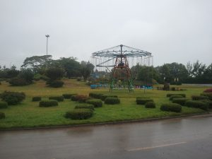 Swing ride in the Uthiru roundabout