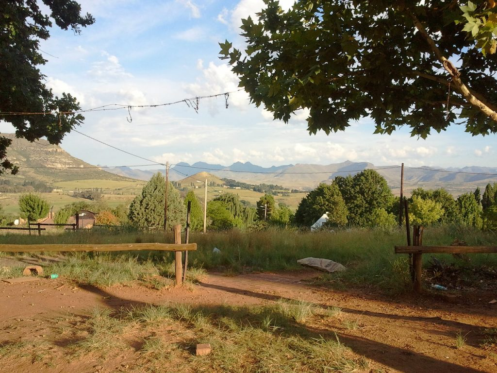 The Maluti mountains from Clarens