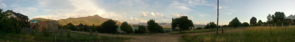 Panorama of the Maluti Mountains from Clarens, South Africa