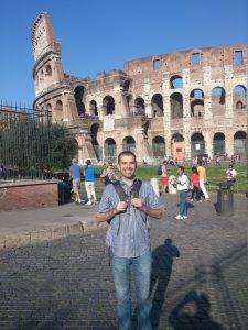 Alan at the Colosseum in Rome