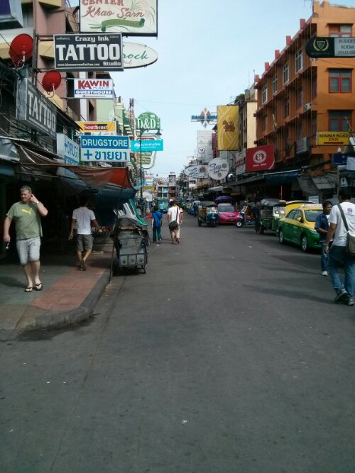 Khaosan Road, Thailand's backpacker area