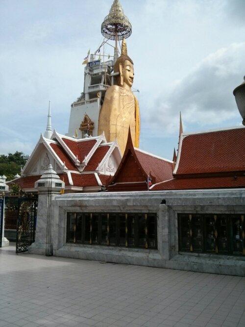 Standing Buddha profile