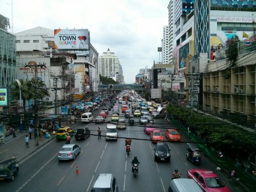 Street outside Pantip Plaza