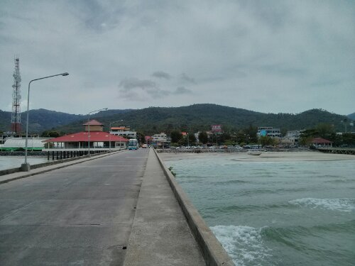 View from the ferry dock in Koh Samui