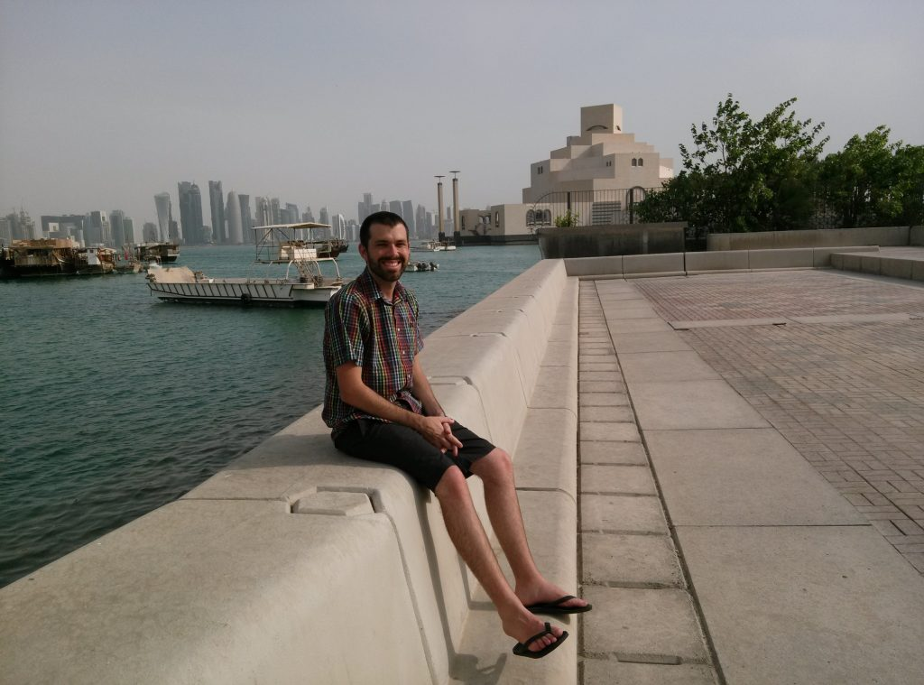 Alan at the dhow harbor