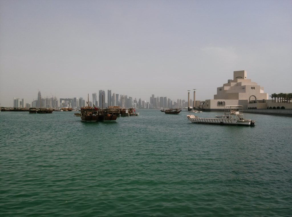 Dhow harbor in Doha, Qatar