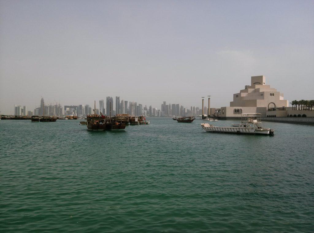 Dhow harbor in Doha, Qatar