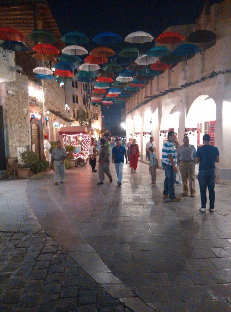 Umbrellas in Souq Waqif
