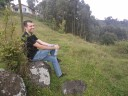 Alan checking out the view in Marangu