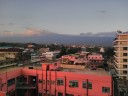 Two peaks of Mount Kilimanjaro in the evening (from Moshi)