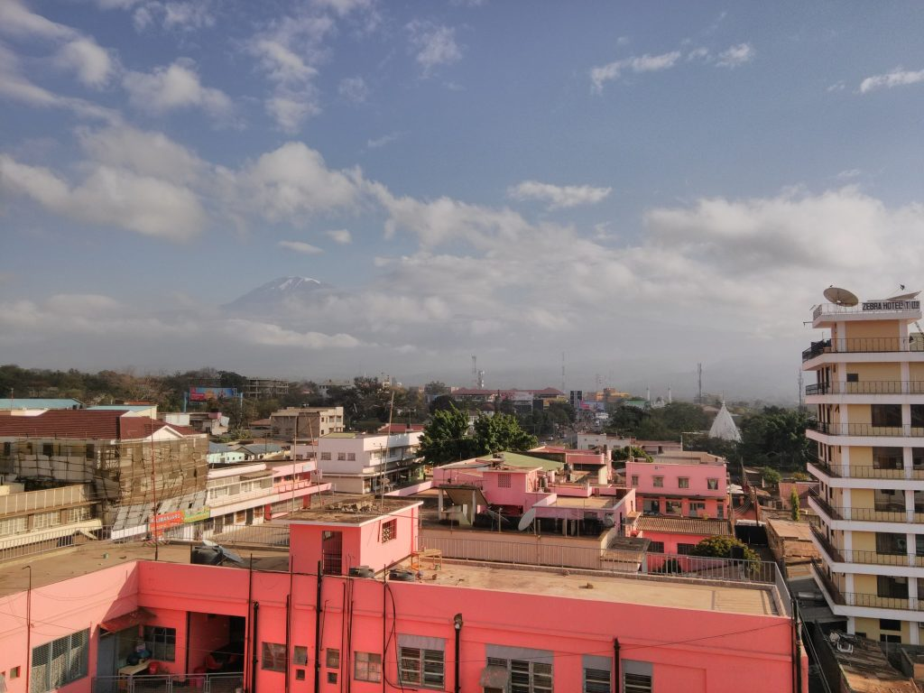 Mount Kilimanjaro in the morning (from Moshi)