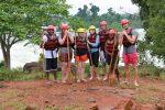 In front of Itanda falls (too dangerous to raft)
