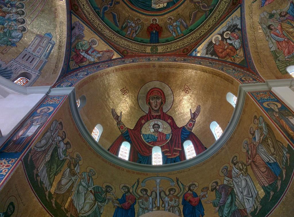 Ceiling in Catholic (?) church in Harissa
