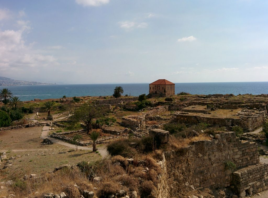 Beautiful coastline as seen from the citadel in Byblos