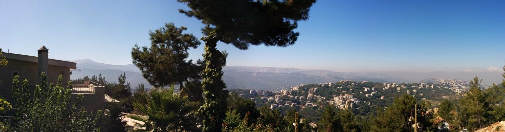 View from Baabdat, Mount Lebanon