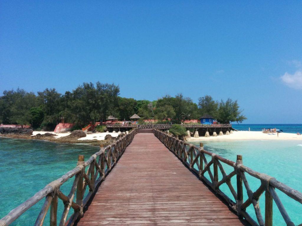 Bridge from the dock on Prison Island, Zanzibar