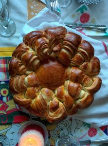Christmas-day loaf (with eggs, milk, and butter!)