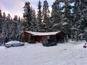 Snow in Borovets on the morning after we arrived!