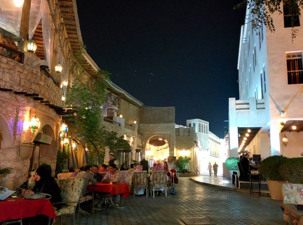 Doha's Souq Waqif by night