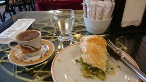 Turkish coffee and baklava at Hafiz Mustafa in Istanbul