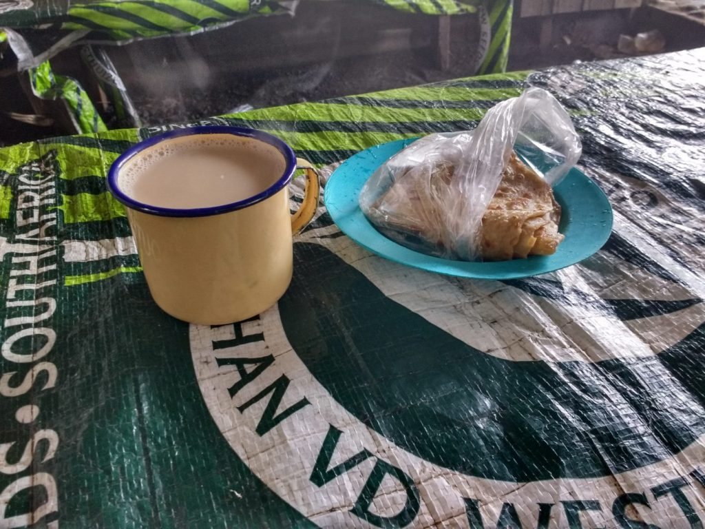 Tea and chapati in Uthiru, Kenya